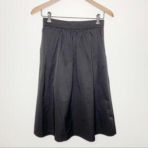 ZARA WOMAN Black Pleated Skirt Pockets XS NWT